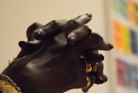 mage of the clasped hands of the late great disability activist and poet Barbara Stewart.